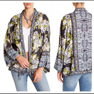 Free People Wildflower Cinched Kimono Jacket